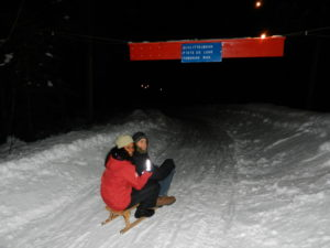 sledging at night